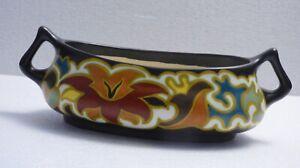 1900 Antique Art Nouveau Zenith Gouda Holland Pottery Jardiniere Planter Signed