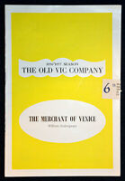 1956 THE MERCHANT OF VENICE Theatre Programme DAVID DODIMEAD  RICHARD GALE