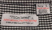 EUC>>Men's>>Shirt>>John Lennon, Paul McCartney>>Size L>>Long Sleeve>Button Front