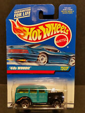 1998 HOT WHEELS - Teal/Black '40s WOODIE - #217 --- Next Day BOX Shipping