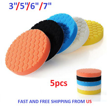 "3/5/6/7"" Polishing Waxing Buffing Sponge Pads Kit Compound Car Polisher 5Pcs USA"