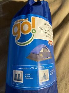 Coleman Go 2 Person Capacity Dome Tent 7ft x 5ft Blue Brand New Never Opened