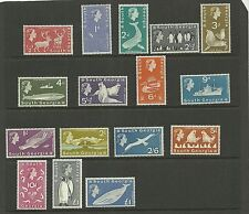 SOUTH GEORGIA SG1-16 1963 DEFINITIVES SET MNH