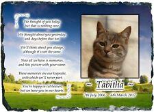 RAINBOW BRIDGE Pet Dog / Cat Memorial Slate Plaque