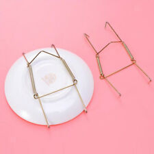 """2pcs Wire Invisible Wall Mount Plate Hooks Hangers Vertical Plate Holders 6"""""""
