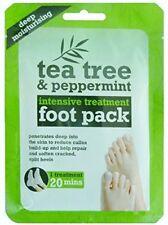 3 x TEA TREE & PEPPERMINT INTENIVE TREATMENT FOOT PACK DEEP MOISTURISING by Tee