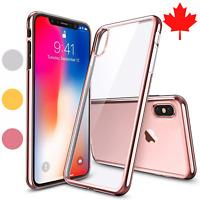 iPhone X & iPhone Xs Case Electroplate Chrome Clear TPU Ultra Thin Cover