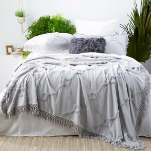 Park Avenue Moroccan Cotton Vintage washed Tufted Bed Cover Coverlet set
