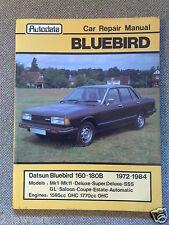 AUTODATA CAR REPAIR MANUAL * DATSUN BLUEBIRD 160B 180B MkI MkII 1972 - 1984 VGC