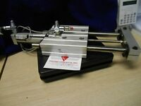 """PHD SED23X4-AE-BR-J2-M  4"""" stroke slide with sensors and flow controls!"""