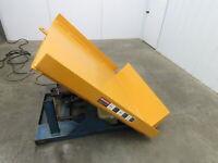 """Vestil Hydraulic Lift Tilt Table 2000lb  51"""" x 55"""" Tilts 45° Box Tipper 3PH"""