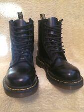 GENUINE DR MARTENS 1460 BLACK LEATHER BOOTS EX CON UK 4 EU 37 US6L RRP£120