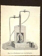 Chalumeau à gaz oxy - hydrogène Torcia a gas, idrogeno ed ossigeno