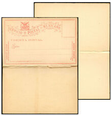 MEXICO 1895 8TH ISSUE UNLISTED FORMULAR PSC DOUBLE HT