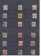 Deutsches Reich 1903, Dienstmarken, Einzelmarken aus MiNrn: 1 - 33 o, Auswahl