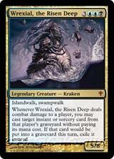 WREXIAL, THE RISEN DEEP Worldwake MTG Gold Creature — Kraken MYTHIC RARE