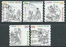 1999 SVIZZERA USATO TOPFFER 5 VALORI - CZ11-5
