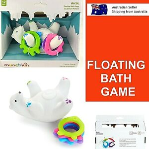 Arctic Floating Bath Game Toy Munchkin Bath Toy Kids Baby Bath Toy Toss Stack