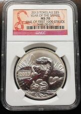 2013 TOKELAU ~ YEAR OF THE SNAKE ~ NGC MS70 ~ FREE SHIPPING