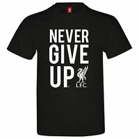Source Lab Mens Liverpool Never Give Up T Shirt Crew Neck Tee Top Short Sleeve