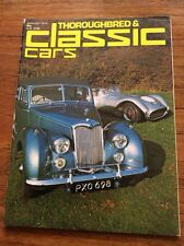 Vintage Magazine Thouroughbred & Classic Cars  Film Prop  Car Showroom Jan 1976