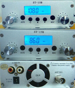Stereo FM PLL radio transmitter 15W 86-108MHZ Wireless audio transmission HOST