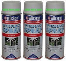 3x400ml Lackspray Farbspray Spraydose Spraylack Weißlack Seidenmatt Weisslack