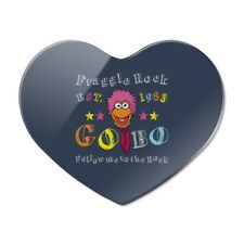 Follow Me to the Rock Fraggle Est. 1983 Heart Acrylic Fridge Refrigerator Magnet