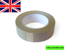 25mm x 50m Brown Paper Self Adhesive Backing Tape Picture Frame Framing FREE p+p