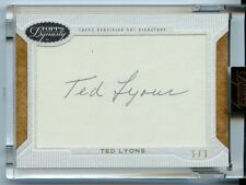 2016 TOPPS DYNASTY TED LYONS CUT AUTOGRAPH TRUE 1/1 WHITE SOX
