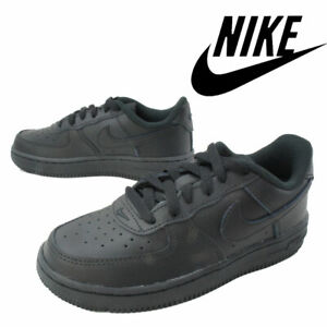 Nike Pre School All Black Force 1 Fashion School Trainer Sneakers Boys Unisex