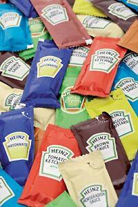 Heinz Single Portion Sauce Sachets - Set Quantities or Choose Your Own Combis !!