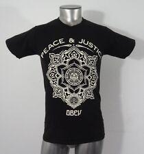 Obey peace & justice men's t-shirt black S