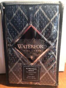 New Waterford Everett European Sham Teal Blue