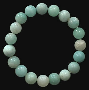 Bracelet Amazonite perles 10mm