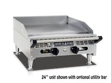 American Range Aemg 48 48amprdquo Heavy Duty Manual Griddle With Stainless Steel