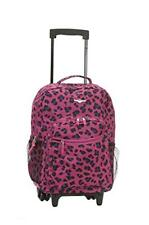 ROCKLAND 17 inches ROLLING BACKPACK MAGENTALEOPARD R01-MAGENTALEOPARD Luggage