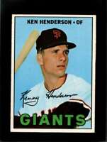 1967 TOPPS #383 KEN HENDERSON EXMT GIANTS DP  *XR11122