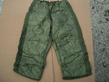 5 ARMY Military Surplus Insulated Thermal Hunting TROUSER PANTS LINER MED LONG
