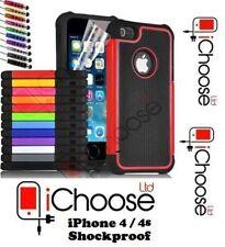 Housses et coques anti-chocs en plastique rigide iPhone 4s pour téléphone mobile et assistant personnel (PDA) Apple