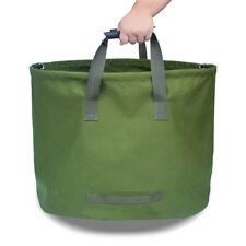Garden Lawn Leaf Yard Waste Bag Reusable Collapsible Trash Container Sack Handle