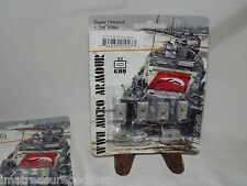 WWII Micro Armour GHQ War Games 1/285 Scale G27 Pz III M & Flamm