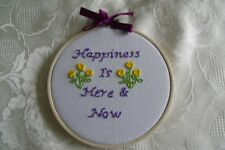 """Embroidered hoop art / wall hanging, Plaque, Hand Stitched 5 1/2"""" Hoop"""
