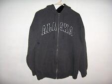 """Alaska, Hooded Sweatshirt, Zip Front, Sz M, Measures 45"""" Chest, Excellent!"""