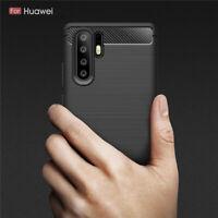 Slim Tough Bumper Rugged Armor Case Cover For Huawei P30 Pro - Matte Black