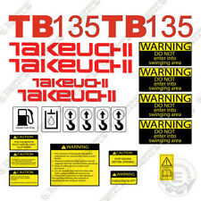 Takeuchi Tb 135 Mini Escavatore Decalcomanie Equipaggiamento TB135 TB-135