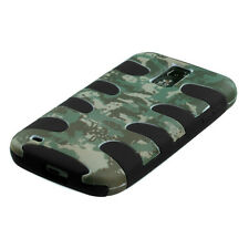 T-MOBILE SAMSUNG GALAXY S 2 II T989 DUAL LAYER 2 TONE HYBRID CASE DITIAL CAMO