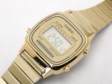 New Casio Classic Ladies Gold Stainless Steel Digital Watch LA670WGA LA670WGA-9D