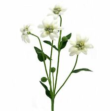 30cm Artificial Edelweiss Flower Spray / Plant - Decorative White Flowers
