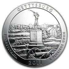 2011 5 oz Silver ATB Coin Gettysburg, PA - America the Beautiful - SKU #61837